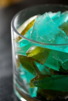 Blue and Green 'Sea Glass Candy' also known as Glass Candy.