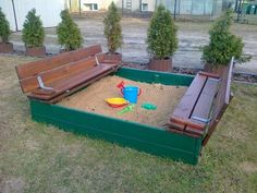 such a cool idea for an outdoor sandpit :) must give it a go..