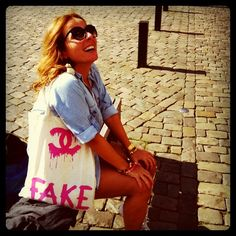 Hahaha <3 this!  I hate fake... can't do it!  If you can't buy the real thing, buy something else ;p