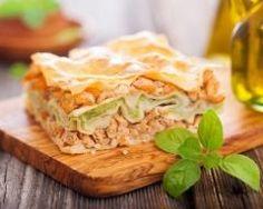 Lasagnes aux courgettes, saumon et chèvre frais