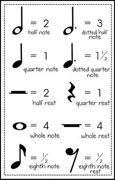 Free music measure mat, cheat sheet, and notes/rests cards