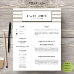 Word Resume & Cover letter Template by Profilia Resume Boutique on @creativemarket  #resume #resumetemplate #modernresume
