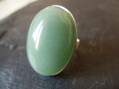 AVENTURINE // Sterling silver ring with Aventurine by masaoms, €60.00