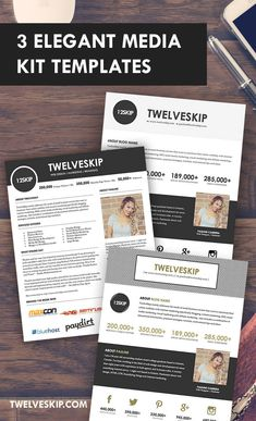 5 punchy easy to edit media kit templates for bloggers