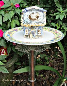 Peace Cottage Garden Totem Stake / Garden Whimsy / Garden Sculpture by GardenWhimsiesByMary on Etsy  - $45