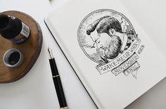 #ink #inktober #mermaid #тушьперо #graphic #графика #platinumpen #sketch #скетч #sketchbook #рисуноктушью #b&w #blackandwhite #эскиз #art #portrait #портрет #moveber #beard #beardedman