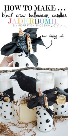 Halloween Party | How to make decorative pillar candles for Halloween.
