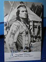 Pierre Brice - Gedruckte Autogramme auf s/w Rüdel-Karte | eBay