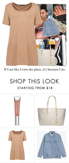 """""""-I Own The Place-"""" by bxtchslayy ❤ liked on Polyvore featuring Trish McEvoy, Michael Kors, Boohoo, Monki and Vans"""
