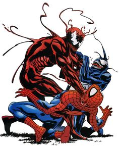 Spiderman. Carnage. Venom. marvel.