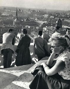 Paris ,from above, at notre - dame , 1957