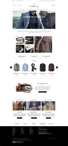 Go FORTE - Mens Clothing Responsive Magento Go Theme by HaloThemes, via Behance
