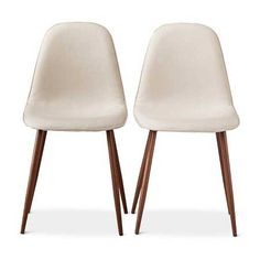 Porter  Add casual comfort to any space with the LumiSource Pebble Chair. This simplistic Mid-Century Modern design is complimented by a walnut finished metal frame, tapered legs and beige upholstered seat. The pebble chair provides stylish guest seating to use in a variety of areas such as dining.