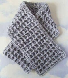 Waffle Stitch Thermal Scarf - Free Crochet Pattern - See http://www.ravelry.com/patterns/library/waffle-stitch-thermal-scarf For Additional Projects - (joann.lionbrand)