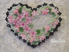 Be My Valentine heart pin by GlosterQueen on Etsy, $27.00