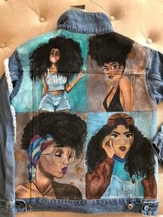 Excited to share this item from my shop: Hand Painted Denim Jackets, Custom Designed Denim Jacket, Acrylic Denim Jacket, Handmade Denim Jacket, Jacket with art work A clever edit of stylish and street smart denim jeans. Painted Denim Jacket, Painted Jeans, Painted Clothes, Hand Painted, Denim Art, Pop Art Design, Fabric Painting, Custom Clothes, Textiles