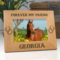 "Personalized Memorial Horse Frame ""Forever My Friend"""