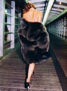 Eva Herzigova by Terry Richardson for Harper's Bazaar USA, Oct. 1997