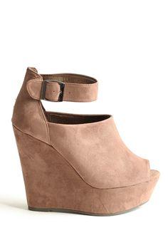 Venus Peep Toe Wedges $48.00 #threadsence