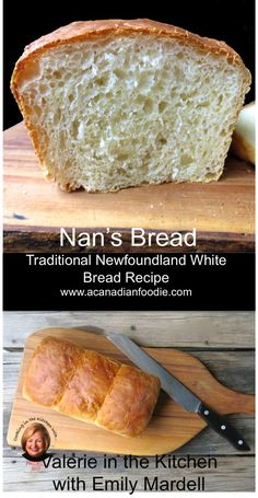 Nan's Bread: In the Kitchen with Emily Mardell at GetJoyFull. Dough for both Tra… Nan's Bread: In the Kitchen with Emily Mardell at GetJoyFull. Dough for both Traditional Newfoundland Toutons and bread! Bread Bun, Easy Bread, My Recipes, Baking Recipes, Favorite Recipes, Homemade White Bread, Homemade Breads, Canadian Food, Canadian Dishes