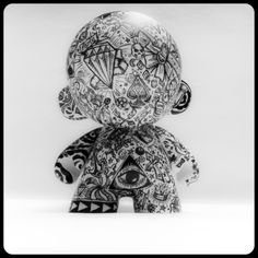 Munny 4 Ink  Tattoo inspired vinyl toy