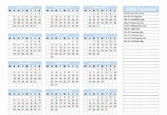 Downloadable Yearly Calendar 2020 Printable PDF Templates | Printable Calendar & Template #calendar2020 #yearlycalendar Printable Yearly Calendar, Free Printable Calendar Templates, 2020 Calendar Template, 12 Month Calendar, Calendar Layout, Daily Calendar, Print Calendar, Calendar 2020, Printables