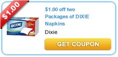 $1.00 off two Packages of DIXIE Napkins