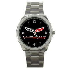 Corvette Racing Logo Sport Metal Watch