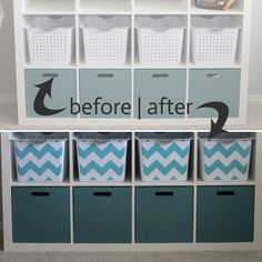 Fancy up your standard storage bins with this easy project using your favorite fabric. Via & 73 best organize :: shelves images on Pinterest | Organization ideas ...
