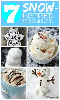 The Family Kitchen: 7 Snow-Inspired Recipes & Kids' Activities *Perfect ideas for winter break