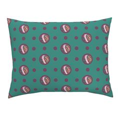 Campine Pillow Sham featuring Pin&Pon Popchiton by joancaronil | Roostery Home Decor