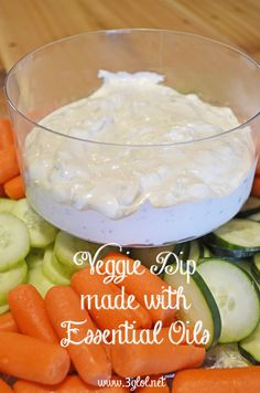 Veggie Dip made with Essential Oils by 3glol.net