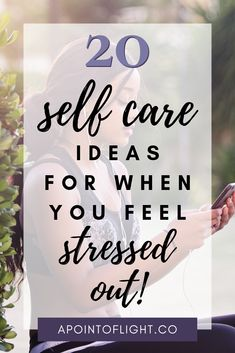 You can't take care of people you love if you don't take care of yourself. Here is a list of 30 self care ideas to reduce stress and feel better. Feeling Stressed, Stressed Out, How Are You Feeling, Stress Management Activities, Management Tips, I Feel Overwhelmed, Stress Relief Tips, Good Mental Health, Empowering Quotes