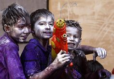 Holi Festival of colors (celebrating the coming of spring) in India.  Photo by Rajesh Kumar Singh/AP