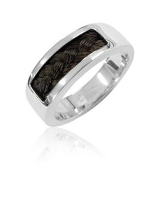 Silver jewerly with horsehair.  www.atelier-mstyle.nl