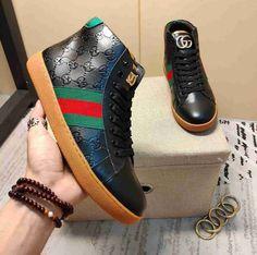 Gucci Designer, Fresh Shoes, Gucci Men, Gucci Shoes, Larger, High Top Sneakers, Jordans, Victorian, Note