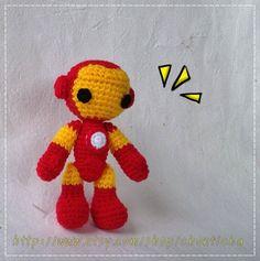 Iron Man 6 inches  PDF amigurumi crochet pattern by Chonticha, $5.00