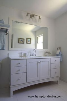 Cottage mirror Ideas   Bathroom Ideas / East Hampton Cottage Guest - mirror  frame