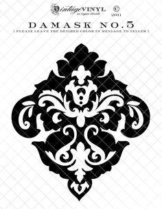 Etiqueta del vinilo No.5 de Damasco o la plantilla--6 a 23 pulgadas--35 colores