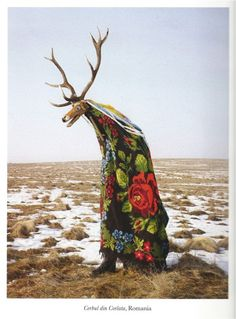"A result of photographer Charles Freger's months traveling in Europe researching costumes and customs. ""More than actual carnivals or folklore, what I was trying to represent was the community of men. Rather than offer an anthropologists report on these disguises, the idea is to pay homage to the beauty of these living sculptures spawned by rituals that remain vital."" In a very civil way, he reminds us of the animal within."