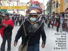 COLOMBIA Artur Coral, en el Carnaval de Negros y Blancos, de Pasto. 6 de enero de 2013. Foto: IPITIMES.COM.