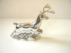 vintage avon silver deer decanter by snugsnuggery on Etsy
