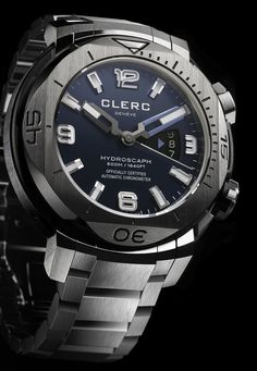 """The Clerc Hydroscaph H1 Watch Now On A Bracelet - by Patrick Kansa - See more on aBlogtoWatch.com """"Clerc just recently released a new version of their excellent entry-level Hydroscaph H1 chronometer diver (you can see our review here).  So what makes this model noteworthy?  Primarily, it's the bracelet, which is something we've not seen on the the line before..."""""""