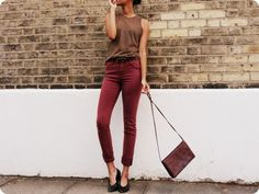 must find burgundy jeans