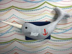 This narwhal is perfect for any little one. It is 100% handmade and the greatest attention was put into every detail. From the fabric…