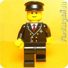 M021B Lego Town City Airport Airplane Pilot Minifigure 10159 NEW #LEGO #CollectorHobbyToys