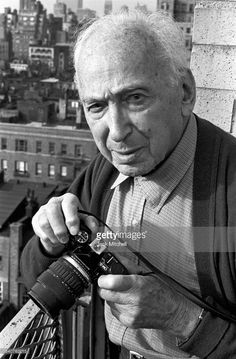 Hungarian born photographer Andre Kertesz, known for his contributions to photographic composition and the photo essay, photographed in April 1985.
