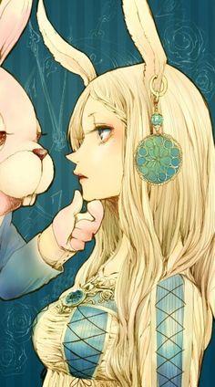 alice, paint, rabbit, wonderland