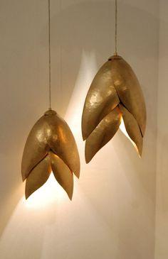 Hammered Brass Lights