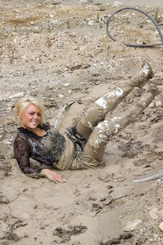 New update with sexy Maria - Muddy High Heels Mudding Girls, Knee Boots, Bootie Boots, Vinyl Clothing, Lama, Vogue Uk, Kinds Of Clothes, White Boots, Wet Look